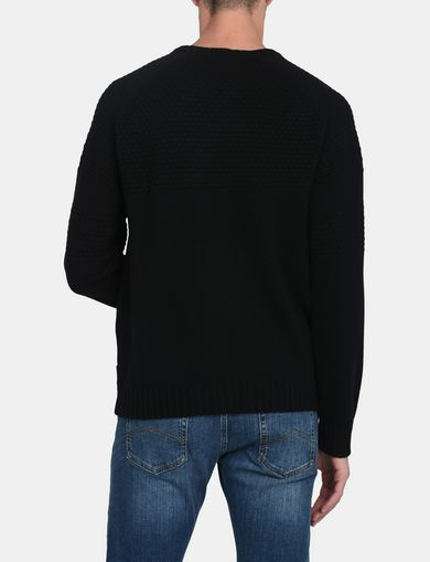 BUBBLE-STTICH CREWNECK SWEATER