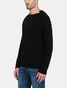 ARMANI EXCHANGE BUBBLE-STTICH CREWNECK SWEATER Pullover Man d
