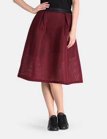 ARMANI EXCHANGE PERFORATED FULL MIDI SKIRT Midi Skirt Woman f