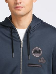 ARMANI EXCHANGE VINTAGE PATCH DETAIL HOODIE Fleece Jacket Man e