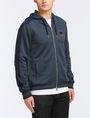 ARMANI EXCHANGE VINTAGE PATCH DETAIL HOODIE Fleece Jacket Man d