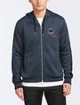 ARMANI EXCHANGE VINTAGE PATCH DETAIL HOODIE Fleece Jacket Man f