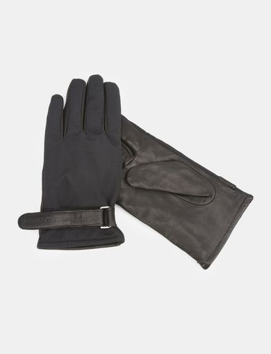 PIECED LEATHER GLOVES