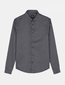 ARMANI EXCHANGE DIAMOND-DOT SLIM-FIT SHIRT Long sleeve shirt Man b