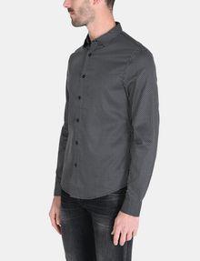ARMANI EXCHANGE DIAMOND-DOT SLIM-FIT SHIRT Long sleeve shirt Man d