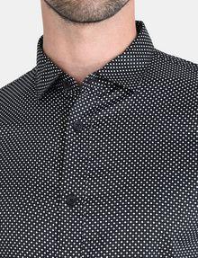 ARMANI EXCHANGE DIAMOND-DOT SLIM-FIT SHIRT Long sleeve shirt Man e