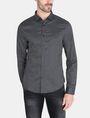 ARMANI EXCHANGE DIAMOND-DOT SLIM-FIT SHIRT Long sleeve shirt Man f