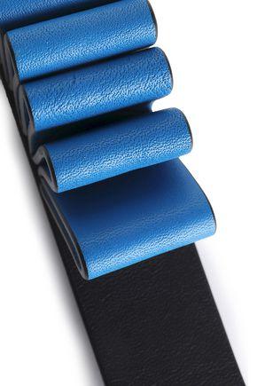 DKNY Two-tone leather keychain