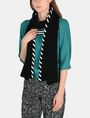 ARMANI EXCHANGE BLANKET STITCH SKINNY SCARF Scarf Woman r