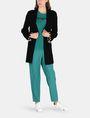 ARMANI EXCHANGE BLANKET STITCH LONGLINE WOOL CARDIGAN Layering Woman a