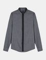 ARMANI EXCHANGE SLIM-FIT CONTRAST PLACKET SHIRT Long sleeve shirt Man b