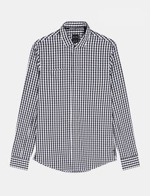 ARMANI EXCHANGE OPTIC CHECK SHIRT Long sleeve shirt Man b