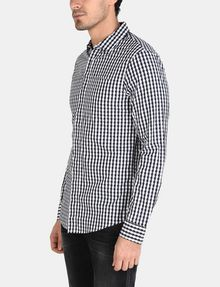 ARMANI EXCHANGE OPTIC CHECK SHIRT Long sleeve shirt Man d