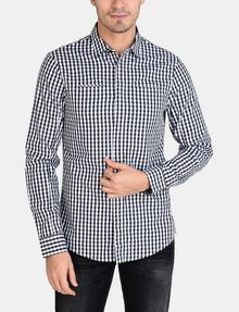 ARMANI EXCHANGE OPTIC CHECK SHIRT Long sleeve shirt Man f