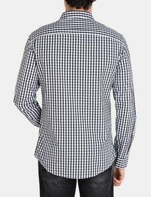 ARMANI EXCHANGE OPTIC CHECK SHIRT Long sleeve shirt Man r