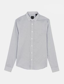 ARMANI EXCHANGE DIAMOND-DOT SLIM-FIT SHIRT Long sleeve shirt Man b