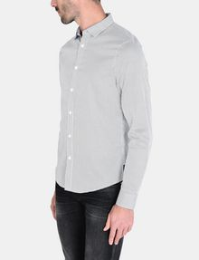 ARMANI EXCHANGE DIAMOND-DOT SLIM-FIT SHIRT Long sleeve shirt Man d