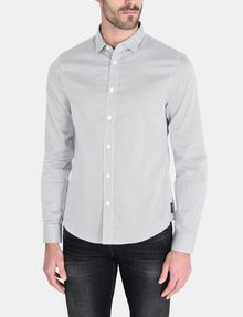 ARMANI EXCHANGE DIAMOND-DOT SLIM-FIT SHIRT Long sleeve shirt Man f