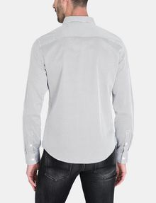 ARMANI EXCHANGE DIAMOND-DOT SLIM-FIT SHIRT Long sleeve shirt Man r