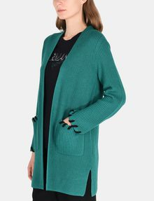 ARMANI EXCHANGE BLANKET STITCH LONGLINE WOOL CARDIGAN Layering Woman d