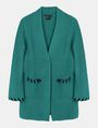 ARMANI EXCHANGE BLANKET STITCH LONGLINE WOOL CARDIGAN Layering Woman b