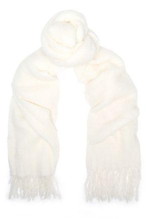 MAJE Fringe-trimmed felt scarf