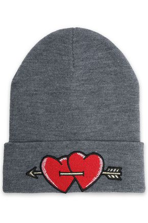 MAJE Embroidered knitted beanie