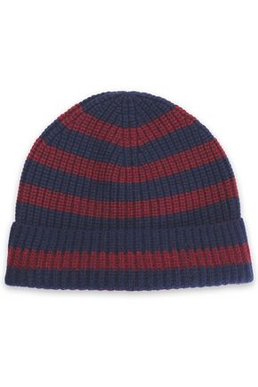 RAG & BONE Striped ribbed cashmere beanie