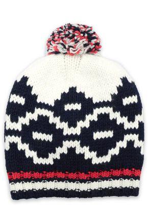 MAJE Pompom-embellished wool-blend beanie