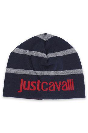 JUST CAVALLI Intarsia wool beanie