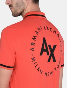 ARMANI EXCHANGE CIRCLE LOGO BICOLOR POLO SHORT SLEEVES POLO Man e