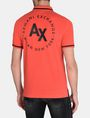 ARMANI EXCHANGE CIRCLE LOGO BICOLOR POLO SHORT SLEEVES POLO Man r