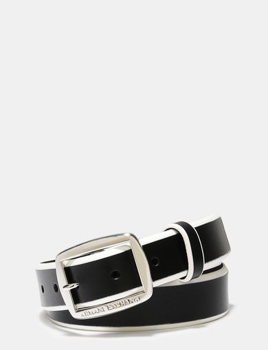 BICOLOR LEATHER BELT