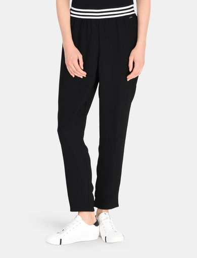 STRIPED WAIST PULL-ON PANT