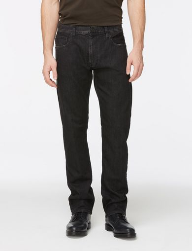 WASHED BLACK STRAIGHT FIT JEANS