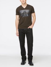 ARMANI EXCHANGE WASHED BLACK STRAIGHT FIT JEANS STRAIGHT FIT JEANS Man a