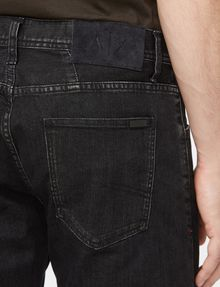 ARMANI EXCHANGE WASHED BLACK STRAIGHT FIT JEANS STRAIGHT FIT JEANS Man e