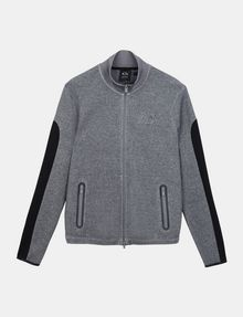 ARMANI EXCHANGE EMBOSSED MOCKNECK ZIP JACKET Fleece Jacket Man b