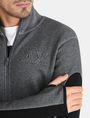 ARMANI EXCHANGE EMBOSSED MOCKNECK ZIP JACKET Fleece Jacket Man e