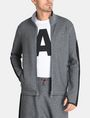 ARMANI EXCHANGE EMBOSSED MOCKNECK ZIP JACKET Fleece Jacket Man f