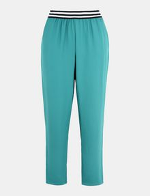 ARMANI EXCHANGE STRIPED WAIST PULL-ON PANT Pant Woman b