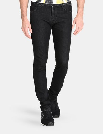 WASHED BLACK SLIM FIT JEANS