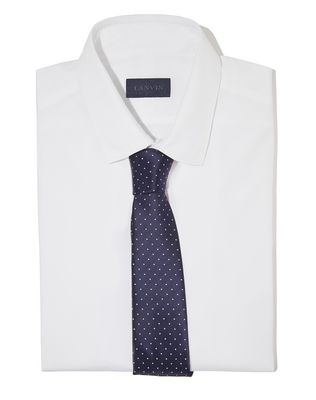 NAVY BLUE CAVIAR-DOTTED TIE