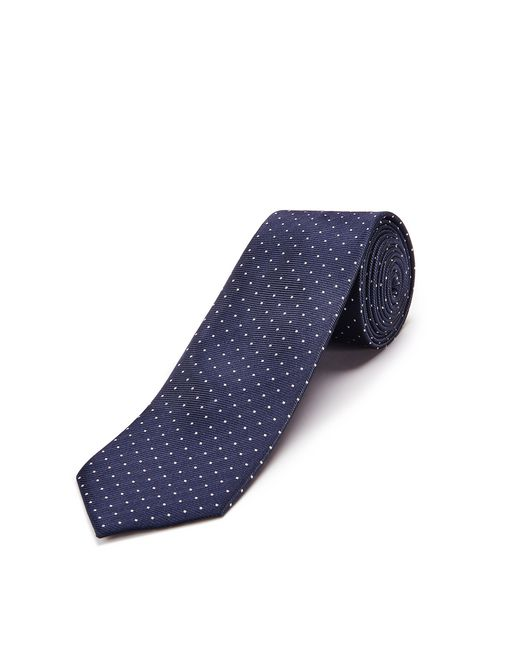lanvin navy blue caviar-dotted tie men