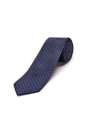 LANVIN NAVY BLUE CAVIAR-DOTTED TIE Tie U f