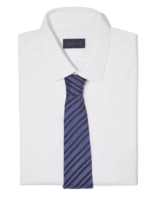 "lanvin cravate ""club"" bleu marine homme"