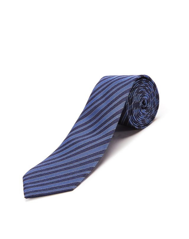 "LANVIN NAVY BLUE ""CLUB"" TIE Tie U f"