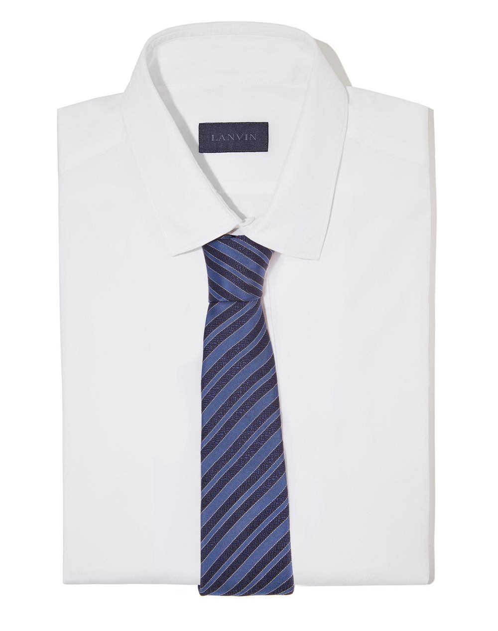 "NAVY BLUE ""CLUB"" TIE - Lanvin"
