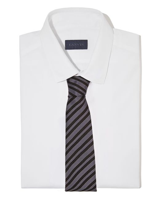 "lanvin black ""club"" tie men"