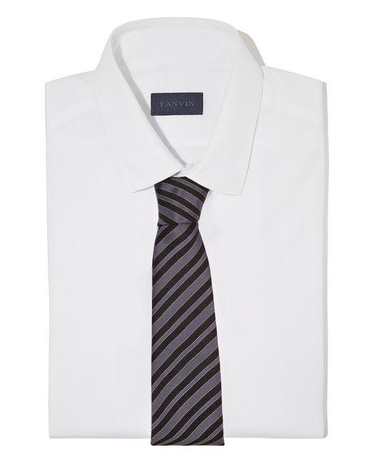 """lanvin cravate """"club"""" noire homme"""